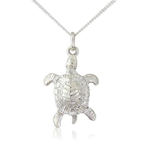 sea turtle pendant necklace by argent of