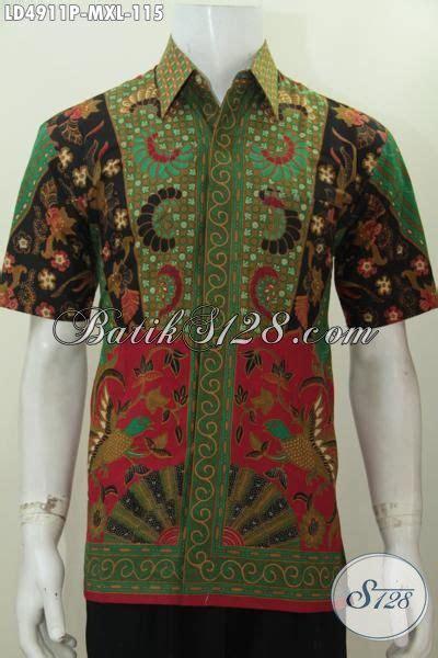 desain baju batik lelaki aneka baju batik lelaki lengan pendek berbahan halus