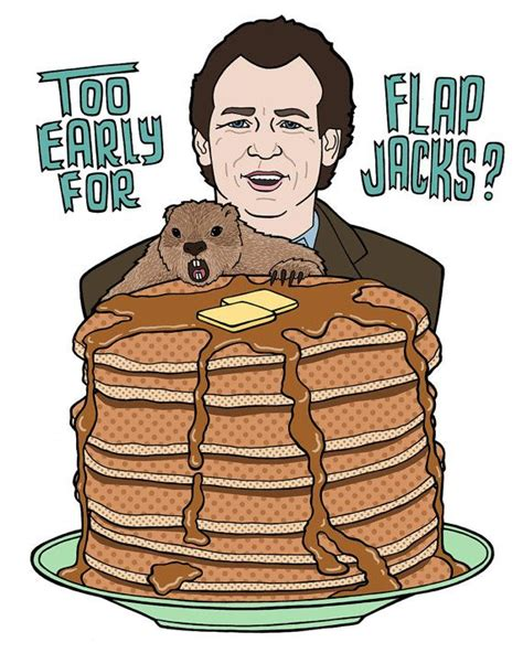 groundhog day flapjacks groundhog flapjacks typography drawing