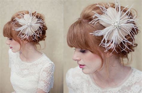 vintage bridal feather hair fascinator feather bridal fascinator wedding hair accessories vintage