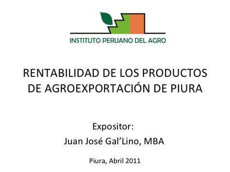 Productos Mba by Rentabilidad De Los Productos De Agroexportacion De Piura