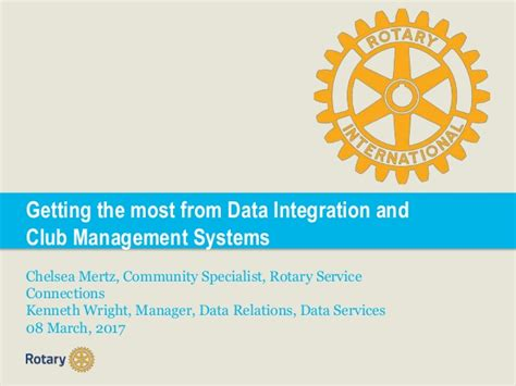 Data Integration Specialist by Getting The Most From Data Integration And Club Management Systems