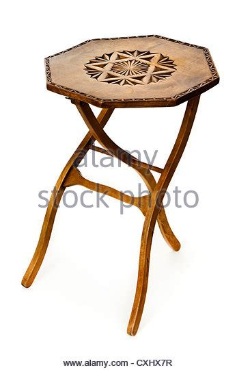 three legged wooden table wooden carved furniture stock photos wooden carved