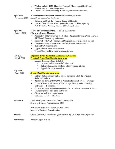 hyperion planning resume resume ideas