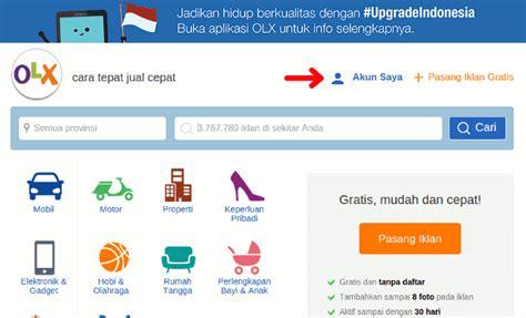 email olx cara pasang iklan di olx co id 2015 nulis ilmu com