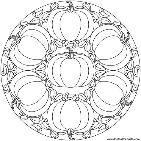 free pumpkin coloring pages for adults don t eat the paste pumpkin mandala happy autumn