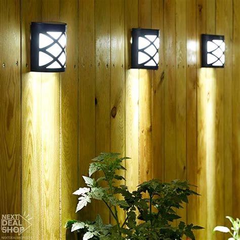 deal shop solar lights solar powered wall mount led garden light deal shop