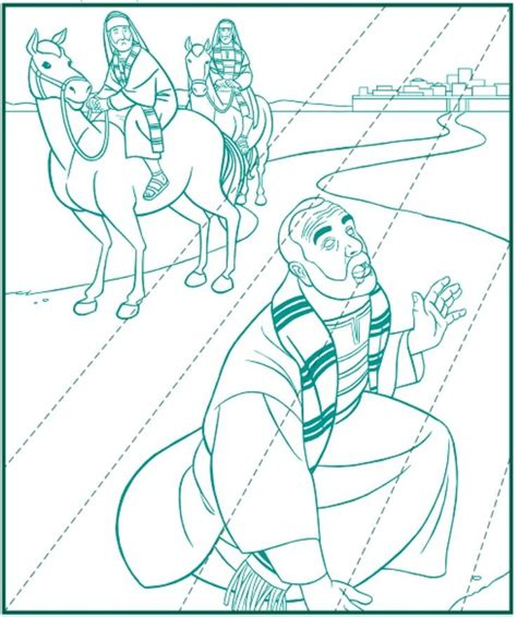 Saul Paul On The Road To Damascus Acts 9 Coloring Saul On The Road To Damascus Coloring Page