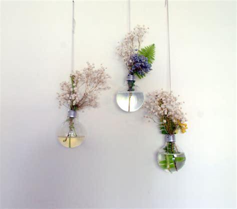 Lights For Flower Vases by Light Bulb Hanging Vase Set Of 3 Sale