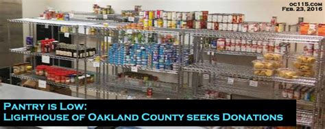pantry is low lighthouse of oakland county seeks