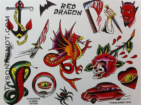 tyson arndt red dragon flash sheet 20 00
