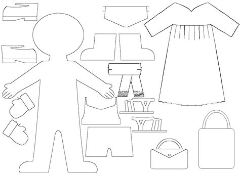 dress a doll template paper doll dress template wallpaper pre busy ed