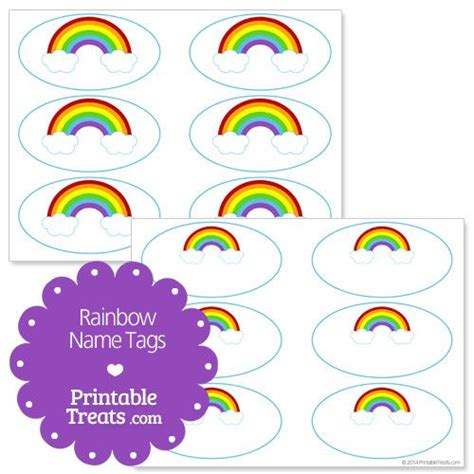 printable name tags pinterest free printable rainbow name tags from printabletreats com