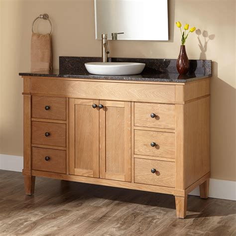 Wood Bathroom Ideas by 48 Quot Marilla Vanity For Semi Recessed Sink Bathroom
