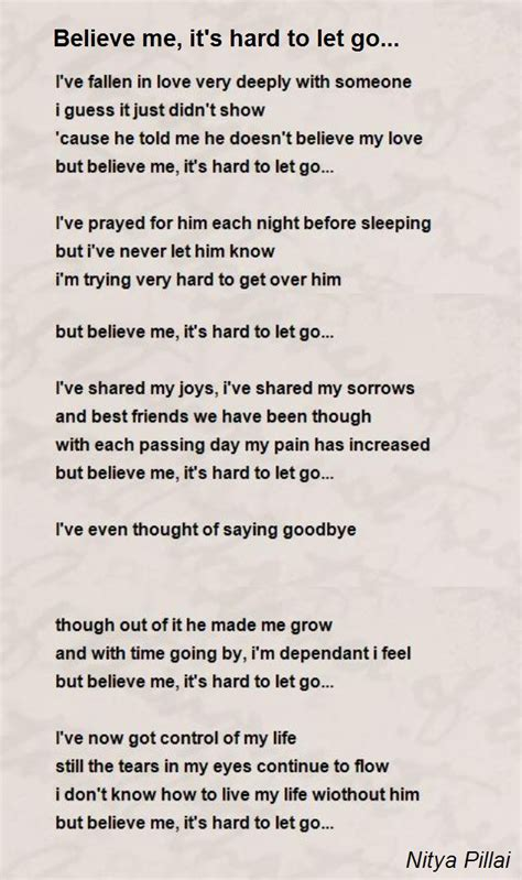 that s not poetry books believe me it s to let go poem by nitya pillai