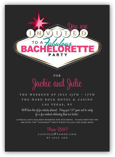 fabulous las vegas themed party invitation