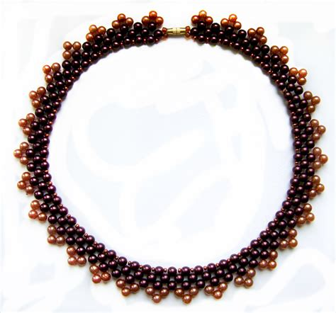 bead necklace tutorial patterns free pattern for necklace magic