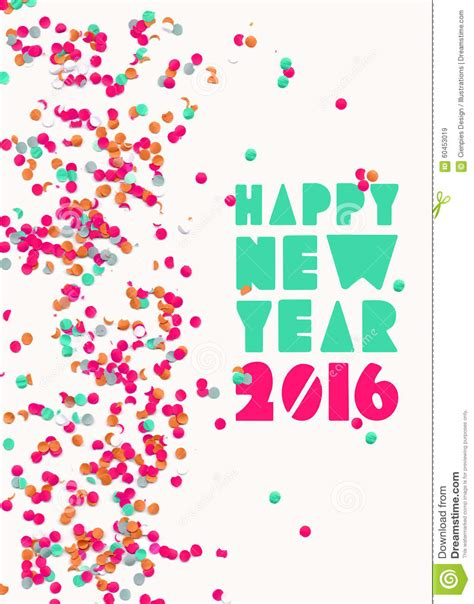 new year printable posters happy new year 2016 confetti poster stock