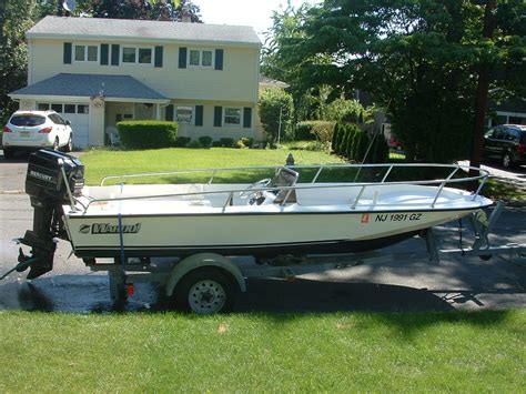 side console fishing boats 16 6 wahoo side console 70 hp merc trailer the hull