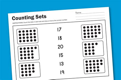how many place settings worksheet wednesday counting sets paging supermom