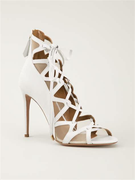 strappy sandals heels strappy white heels qu heel