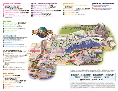 universal studios map highstar travel gt helpful information