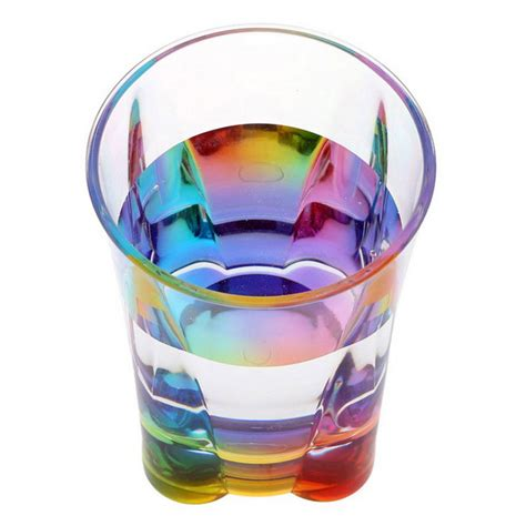 Rainbow Cup transparent acrylic rainbow cup water glass