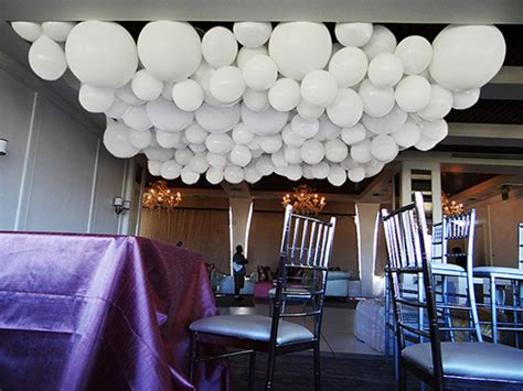 Easy Last Minute Decor Balloon Ceiling by Ceiling Decor