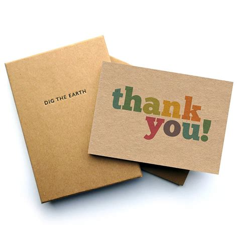 Thank You Letter Gift Card - set of 12 colourful thank you note cards by dig the earth notonthehighstreet com