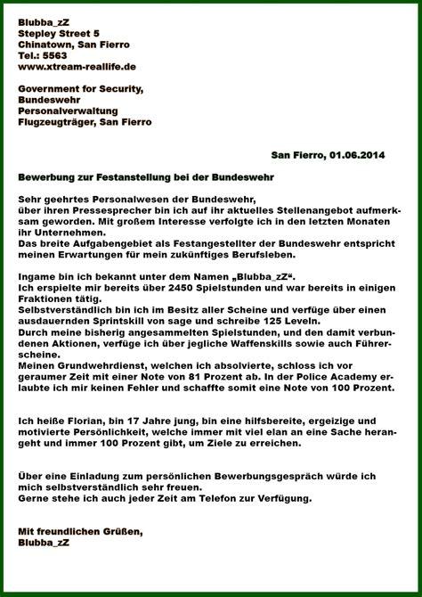 Lebenslauf Muster Nach Bundeswehr Bewerbungsschreiben F 252 R Die Bundeswehr Kostenlose