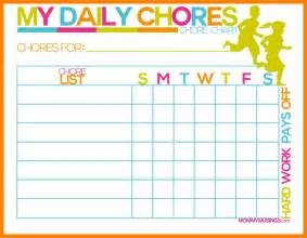 4 chore chart for kids coaching resume