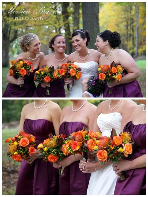 fall themed wedding flowers wedding bouquets photography www monicabrazier fall wedding