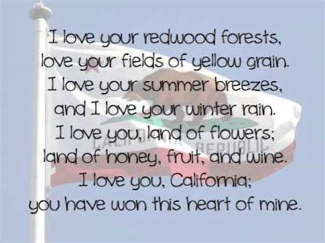 i love you california lyrics youtube