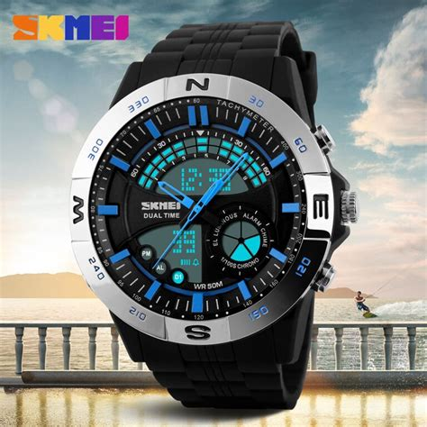 Skmei Casio Sport Led Water Resistant 50m Ad1110 T1910 2 skmei jam tangan analog digital pria ad1110 black gray