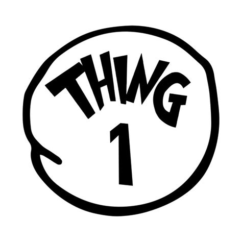 Thing 1 And Thing 2 Shirts Thing 1 Thing One Thing 1 And Thing 2 T Shirt Teepublic Thing 1 Editable Template