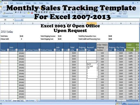Simple Sales Summary Template Excel Sales Tracking Template