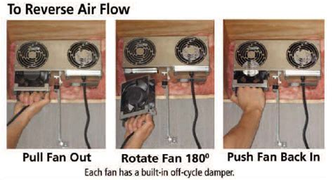 xchanger reversible basement ventilation fan