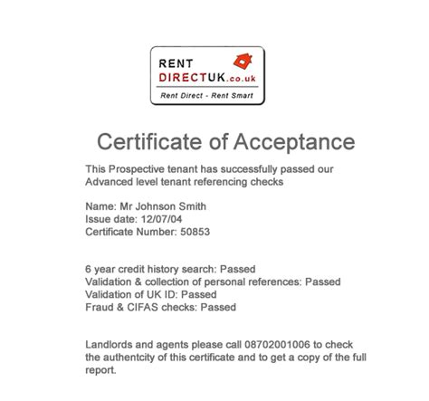 certificate of acceptance template how to write a letter