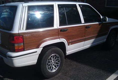 wood panel jeep find used no reserve 93 jeep grand wagoneer wood panel