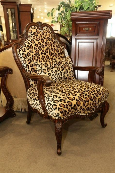 Animal Print Stool Chair by Leopard Print Accent Chair Foter