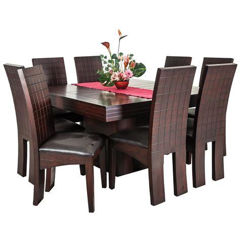 centro de mesa de comedor moderno comedor 8 sillas color cherry mesa cuadrada famsa