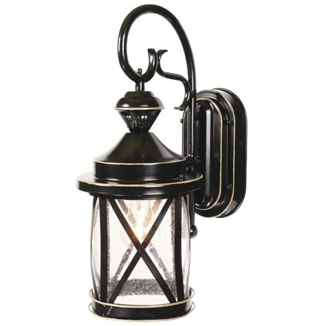 Porch Lights At Lowes by Heath Zenith 18 In H Satin Black Motion Activated Outdoor