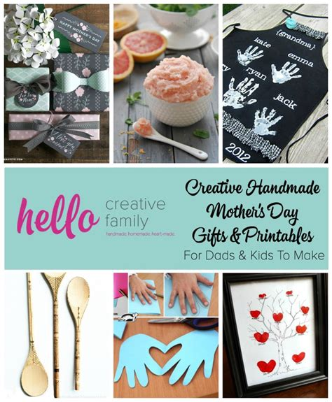 Creative Handmade Gifts For - creative handmade mothers day gifts and printables for