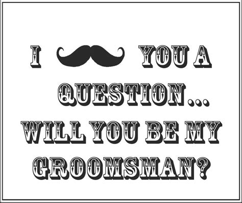 free groomsman card template printable quot will you be my groomsman quot gift box insert