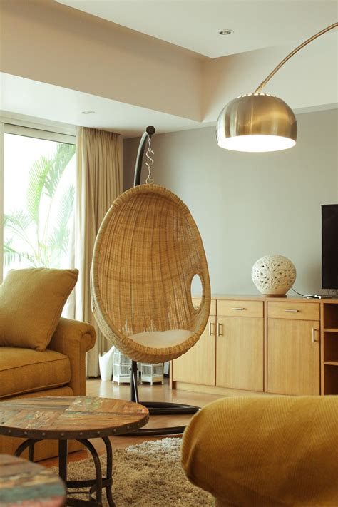 room swing chair swing rattan chair in india living room before after