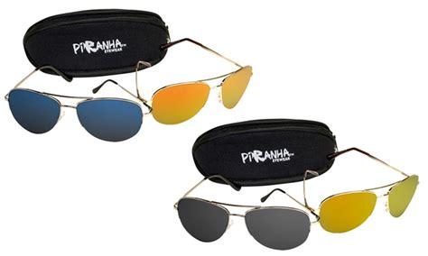 7 Pairs Of Aviator Sunglasses by Piranha Aviator Sunglasses Groupon Goods