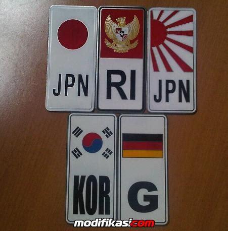 Sho Kuda Ukuran Kecil wts emblem plat nomor uk besar kecil ri jpn g