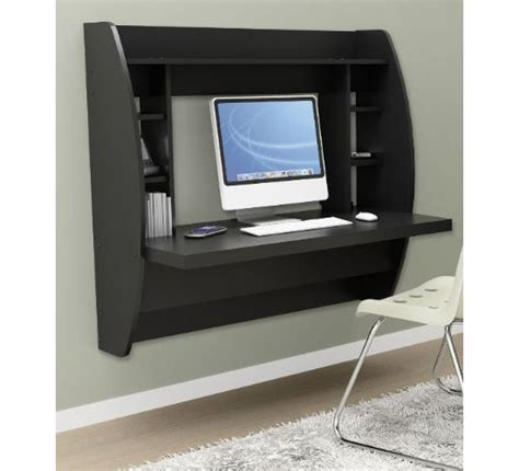 Floating Desk With Storage by Prepac Floating Desk With Storage Keeps Your Workspace