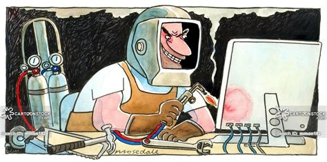 welder cartoons and comics funny pictures from cartoonstock