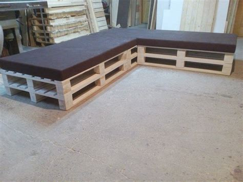 sectional made out of pallets pallet sectional cushioned sofa pallet furniture diy